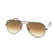 Ray-Ban Aviator Large Metal in Braun