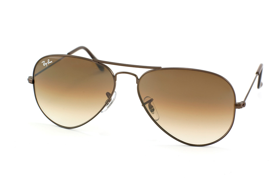 Aviator Large Metal RB 3025 in Braun