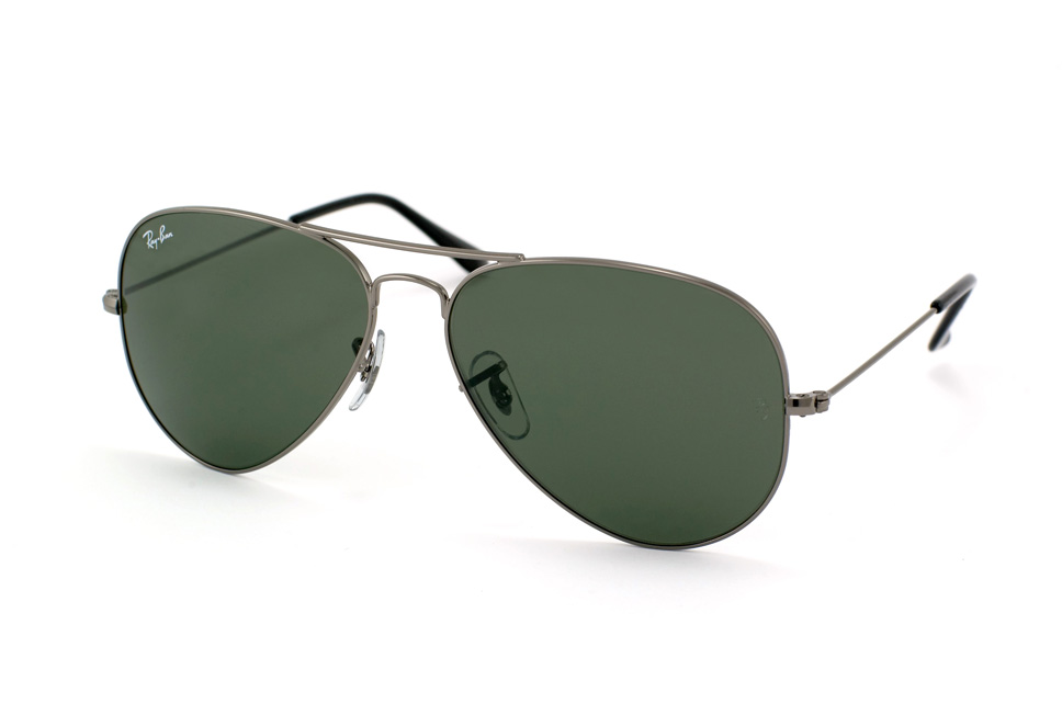 Aviator Large Metal RB 3025 in Dunkelgrau