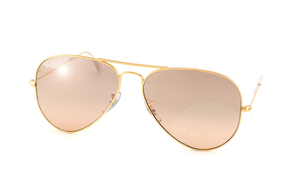 Aviator Large Metal RB 3025 in Goldfarben