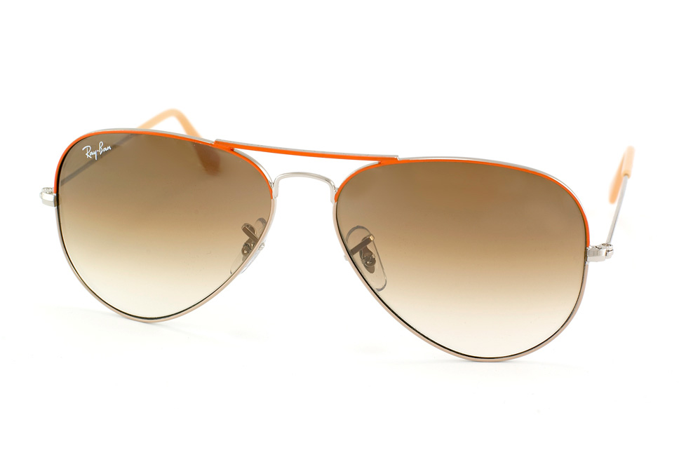 Aviator Large Metal RB 3025 in Orange