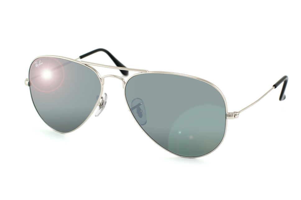 Aviator Large Metal RB 3025 in Silber