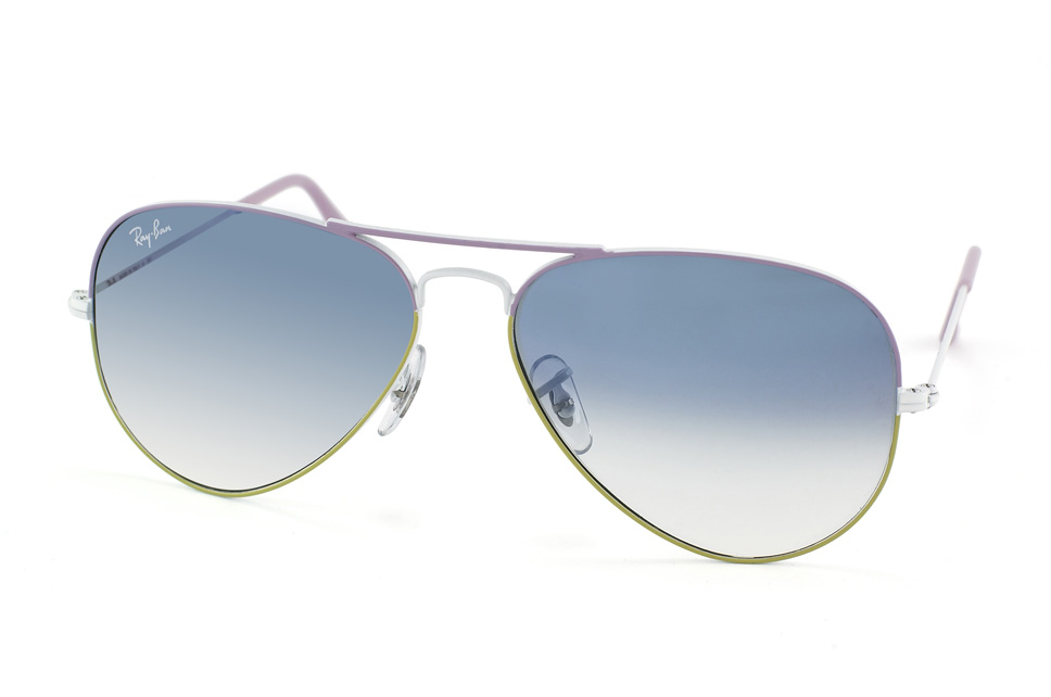 Aviator Large Metal RB 3025 in Weiss